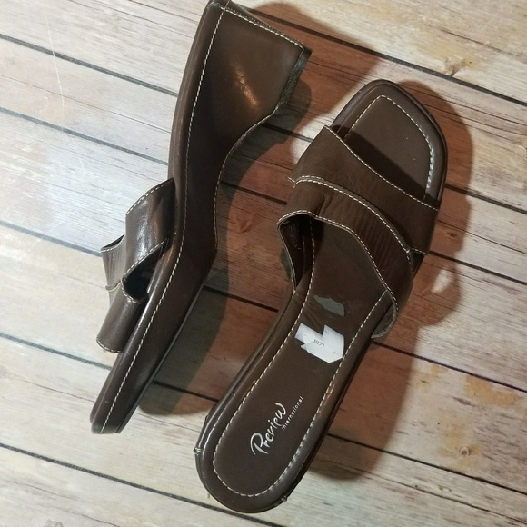 Preview International Shoes - PREVIEW INTERNATIONAL brown slides